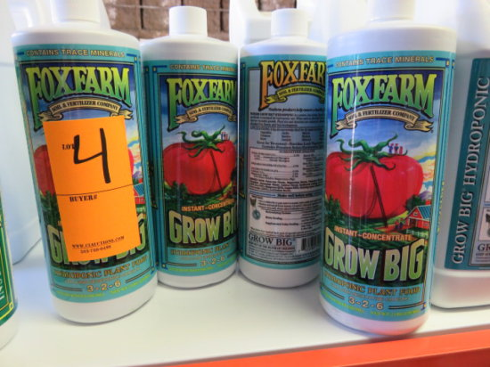 (9) 32 OZ FOXFARM GROW BIG HYDROPONIC PLANT FOOD