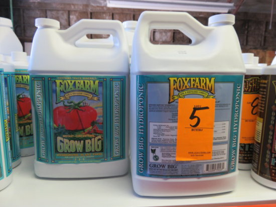 (2) GALLONS FOXFARM GROW BIG HYDROPONIC PLANT FOOD