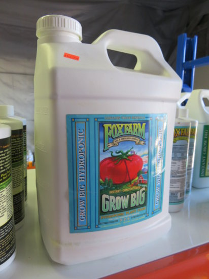 2.5 GALLONS FOXFARM GROW BIG HYDROPONIC PLANT FOOD