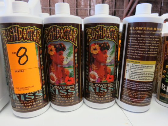(9) 32 OZ BUSHDOCTOR FLOWER KISS FOLIAR PLANT FOOD