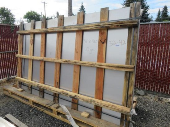 (6) 10GA STAINLESS STEEL SHEETS, 72'' X 120''