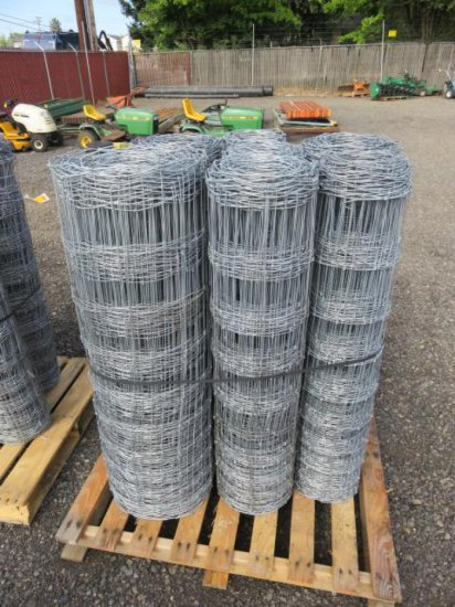 (7) ROLLS ASSORTED LENGTH FIELD FENCING