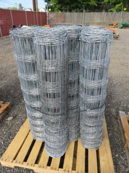 (7) ROLLS OF ASSORTED LENGTH FIELD FENCING