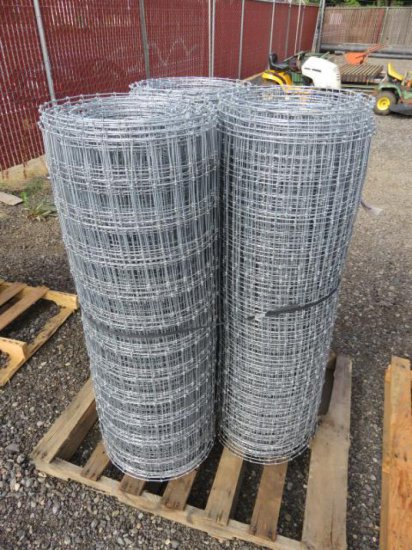 (3) ROLLS OF ASSORTED LENGTH FIELD FENCING