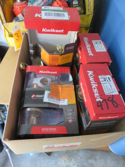 BOX 5 KWIKSET LEVER HANDLED KEYED ENTRY LOCKS