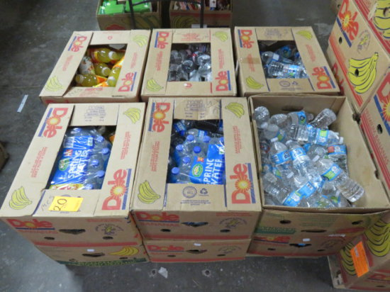 PALLET APROX 12 BOXES OF WATER, TEA AND JUICE (NO BOTTLE RETURN DEPOSIT CHA