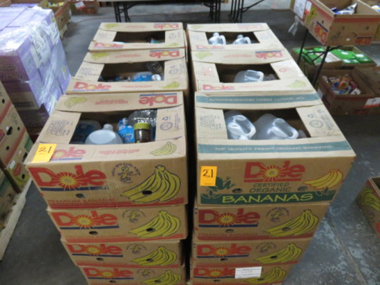 PALLET OF 24 BOXES WATER, TEA AND JUICE (NO BOTTLE RETURN DEPOSIT CHARGED T