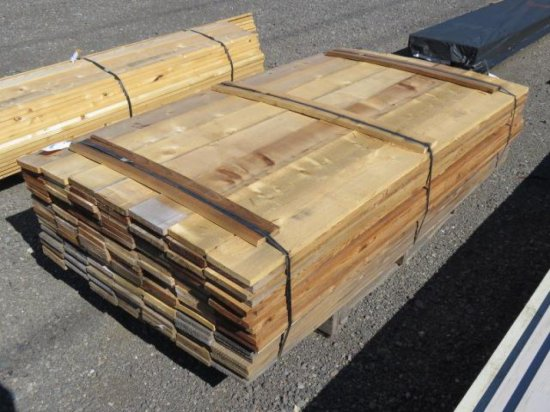 PALLET W/ APPROX. (130) 1'' X 6'' X 72'' CEDAR BOARDS