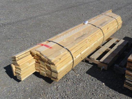 PALLET W/(57) 8' X 3-1/2'' X 3/4'' & (17) 10' X 3-1/2'' X 3/4'' PINE BOARDS