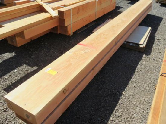 PALLET W/(2) 13'' X 5-1/2'' X 16' WOOD BEAMS