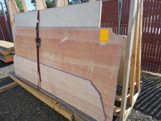 (9) ASSORTED SIZED MARBLE SLABS