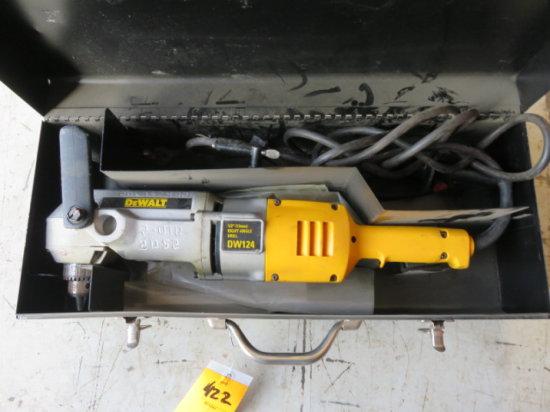 DEWALT 120V RIGHT ANGLE DRILL W/CASE