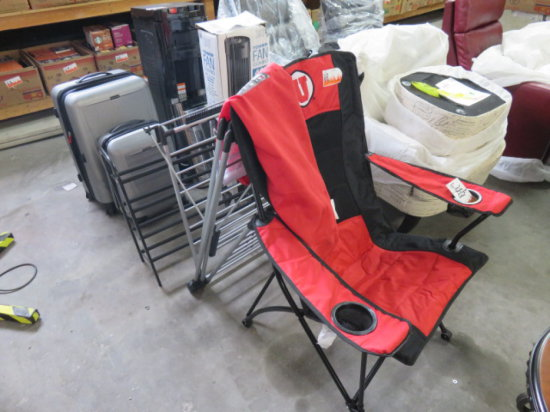 Folding sport chair, drying rack, shoe rack and water cooler