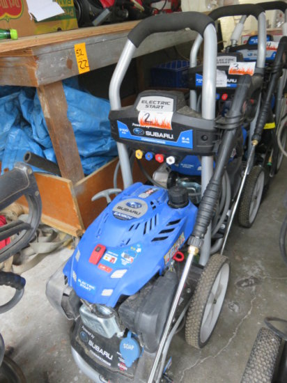 Subaru EA190V Powerstroke pressure washer, gas, 3100 psi, elect start c/w c