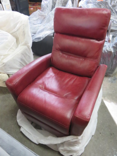Synergy faux leather red recliner