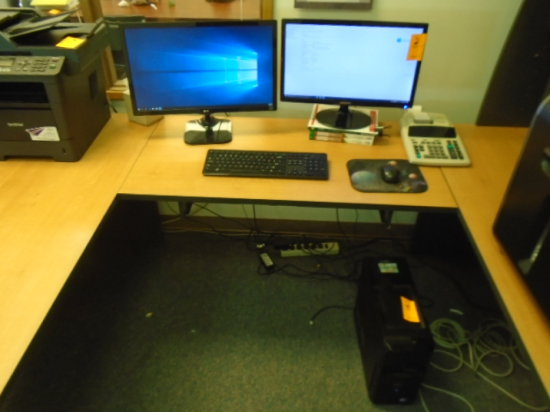 DELL I7 DESKTOP, 4 GIG RAM, (2) MONITORS, WIRELESS KEYBOARD AND MOUSE, WIND