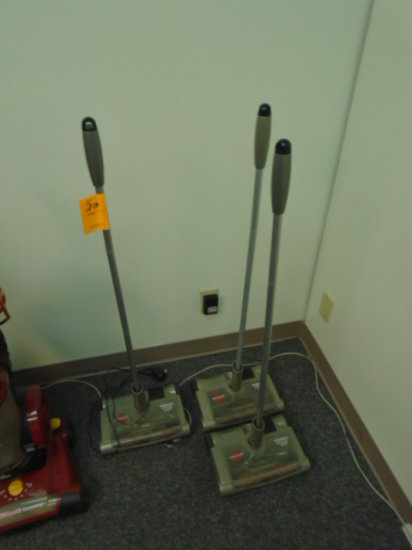 (3) BISSELL PERFECT SWEEP TURBOS, (1) POWER CORD