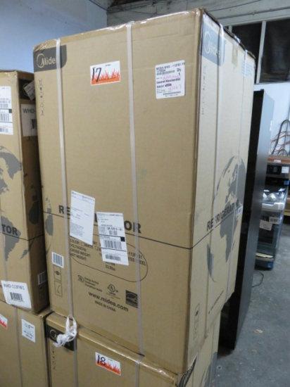 MIDEA WHD113FB1 2 DOOR MINI FRIDGE BLACK