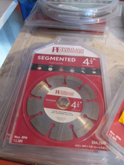 (9) 4 1/2'' SEGMENTED DIAMOND BLADES