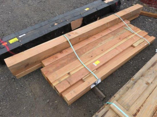 (10) ASSORTED SIZED WOOD BEAMS