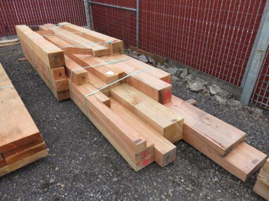 ASSORTED SIZED LUMBER (BEAMS)