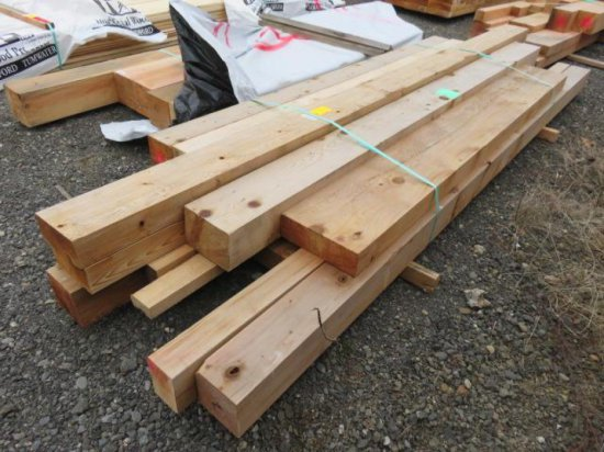 (15) ASSORTED SIZED WOOD BEAMS