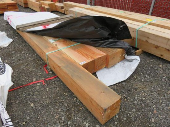 (6) 8'' X 8'' BEAMS, (ASSORTED LENGTHS)