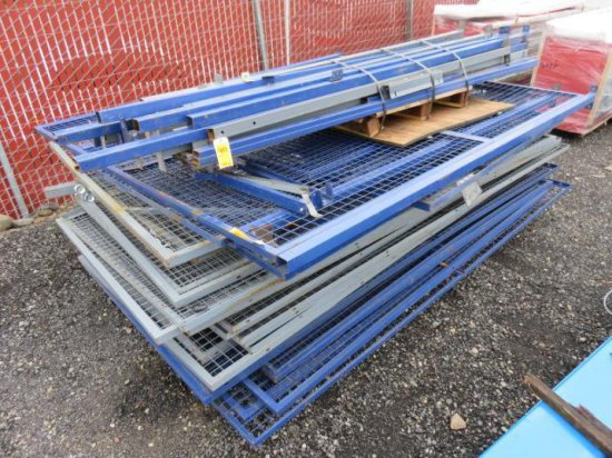 PALLET W/ APPROXIMATELY (23) PIECES OF PORTABLE SECURITY FENCING, ASSORTED SIZES