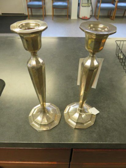 (2) STERLING SILVER CANDLE HOLDERS