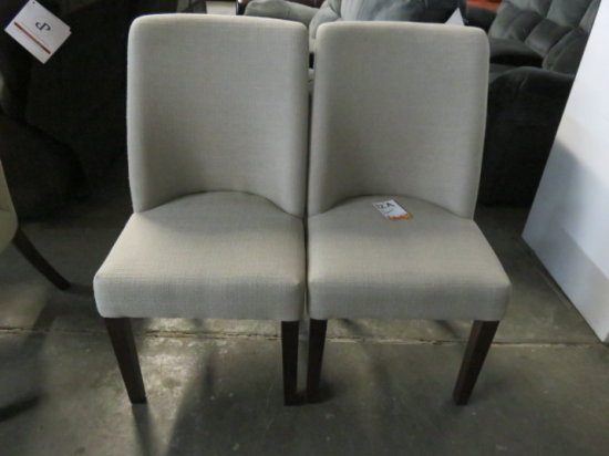 LOT OF 2 PADDED DINNING CHAIRS #520 SAND COLOR