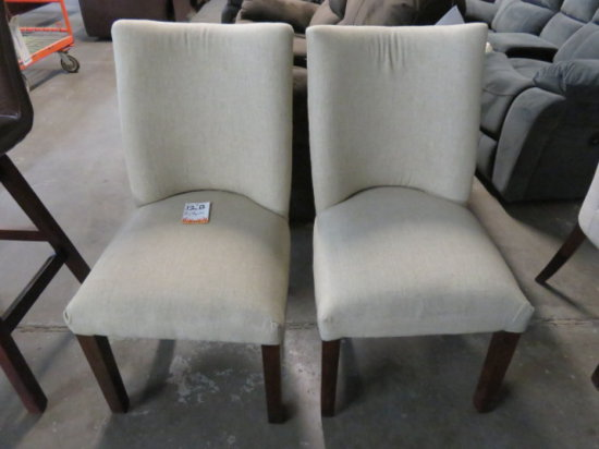 LOT OF 2 PADDED DINNING ROOM CHAIRS #060 CHLOE COLORED