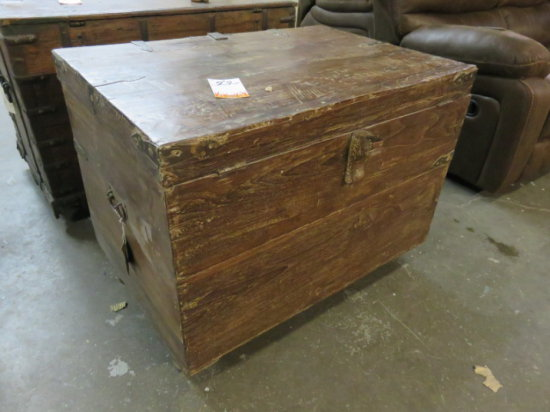 TREASURE CHEST WITH DRAWER WOOD, 36''W X 24''D X 28''H