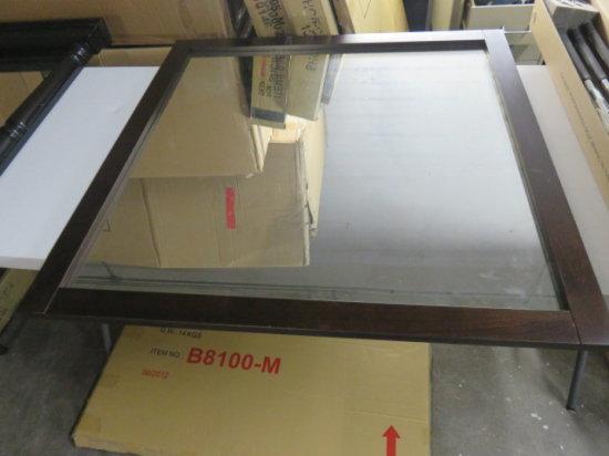 MIRROR 40''X40'' CAPPUCCINO COLORED WOOD TRIM MDL#B8100M