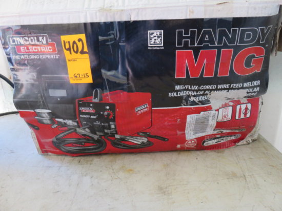LINCOLN HANDY MIG/FLUX-CORED WIRE FEED WELDER 1M756-A
