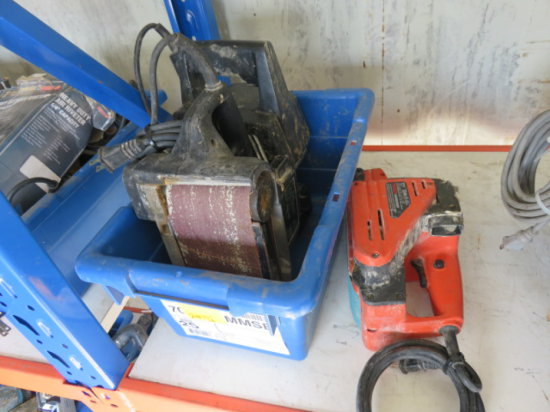 (2) CORDED 3'' BELT SANDERS & (1) 4'' CORDED BELT SANDER