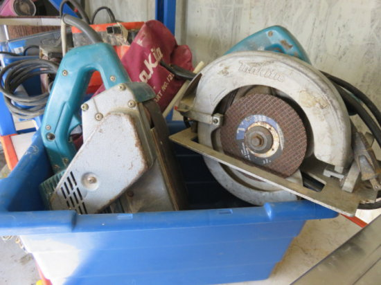 MAKITA CORDED CURCULAR SAW 7 1/4'' BLADE & MAKITA 4'' CORDED BELT SANDER