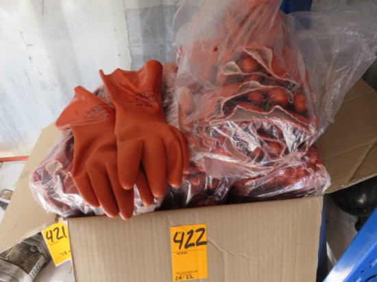 BOX OF ATLAS GLOVES XL NEW VINYLOVE #620 GENERAL DUTY GLOVES
