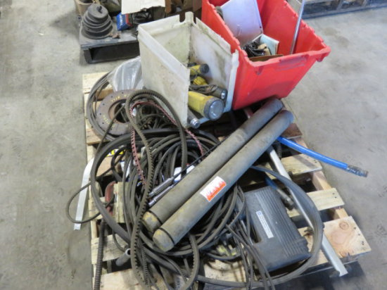 ASSORTED HARDWARE, BELTS, HOSE & LIGHTS