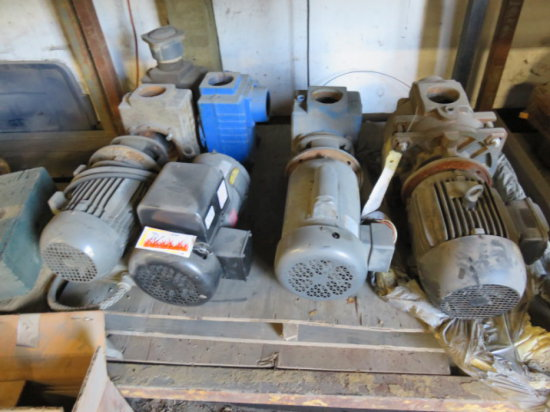LOT OF ELECTRIC MOTORS FOR WATER PUMPS