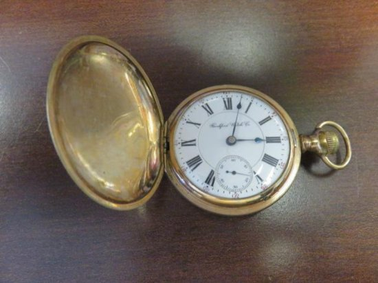 ROCKFORD POCKET WATCH W/WADSWORTH CASE COVER 925412 APPROXIMATELY CIRCA 1936