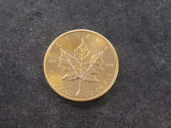 1979 CANADIAN GOLD MAPLE LEAF-ELIZABETH II 50 DOLLAR COIN, 1 OZ PURITY OF 0.9999