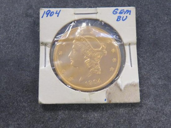 1904, 20 DOLLAR LIBERTY HEAD GOLD COIN