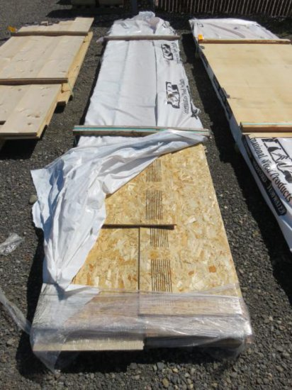 PALLET OF VENTED PARTICLE BOARD ROOFING