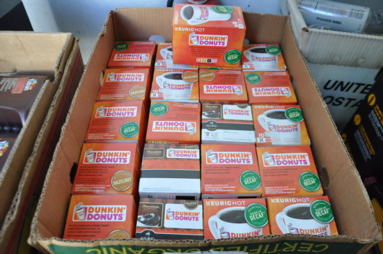 LOT OF 12 DUNKIN DONUT DECAF 10 COUNT KEURIG CUPS AND 8 DUNKIN DONUT HAZELN