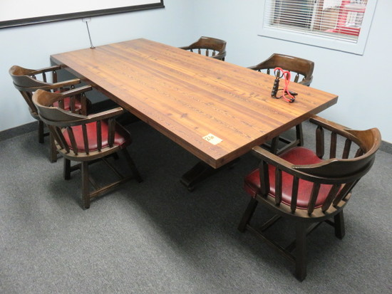 CONFERENCE TABLE W/(5) CHAIRS