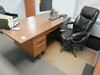 DESK W/OFFICE CHAIR AND FOLDING TABLE