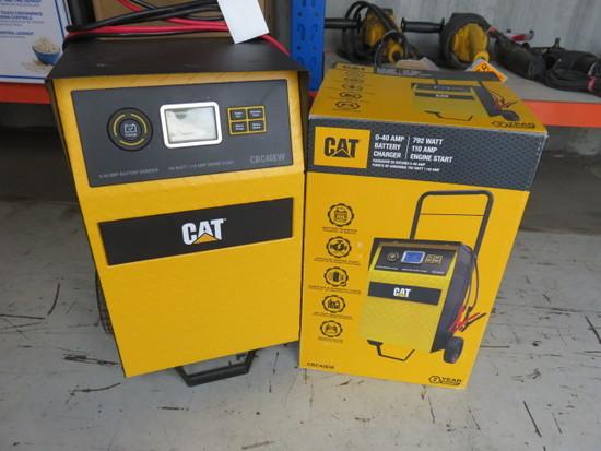 CAT CBC40EW 40 AMP BATTERY CHARGER, 792 W, 110 AMP ENGINE START DIGITAL
