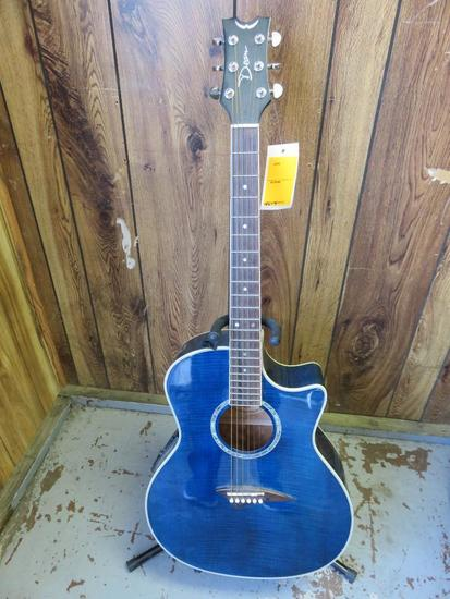 PECA ACOUSTIC/ELECTRIC GUITAR W/STAND