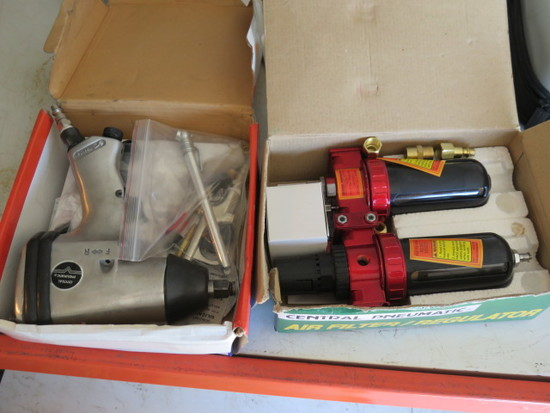 CENTRAL PNEUMATIC AIR FILTER & 1/2'' AIR IMPACT WRENCH