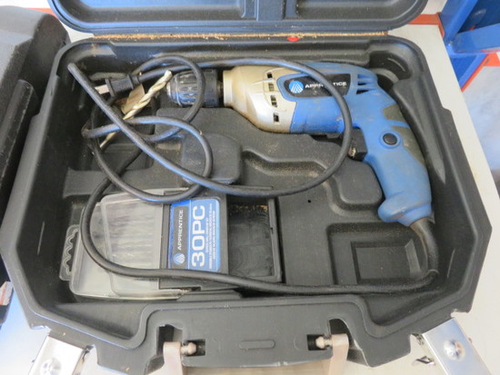 ELECTRIC DRILL W/BIT SET